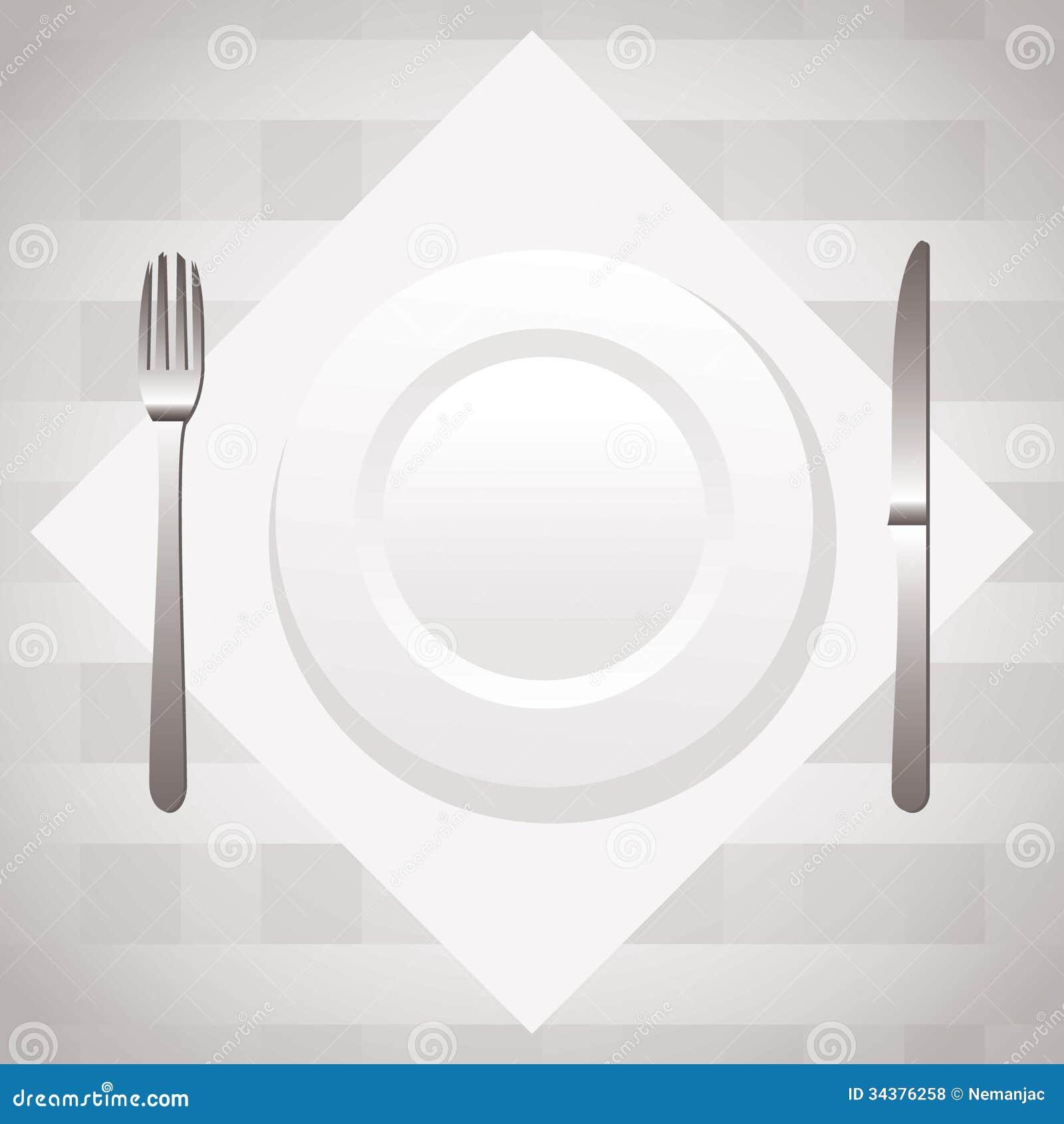 Table setting & Table setting stock vector. Illustration of porcelain - 34376258