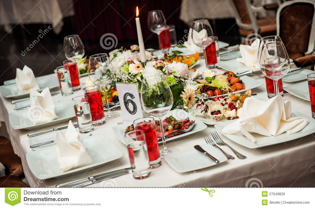 Table setting at restaurant stock image image of for Restaurant table menu