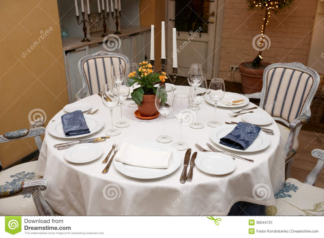 Table setting in a restaurant stock image image of for Restaurant table menu