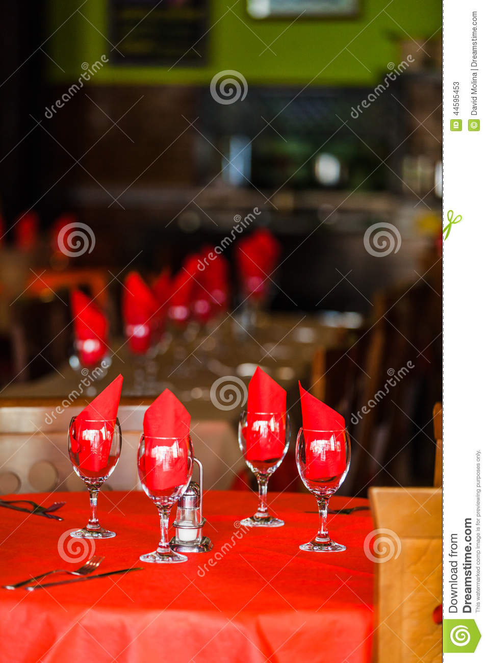 Table setting in a spanish restaurant. & Table Setting In A Spanish Restaurant. Stock Image - Image of lunch ...