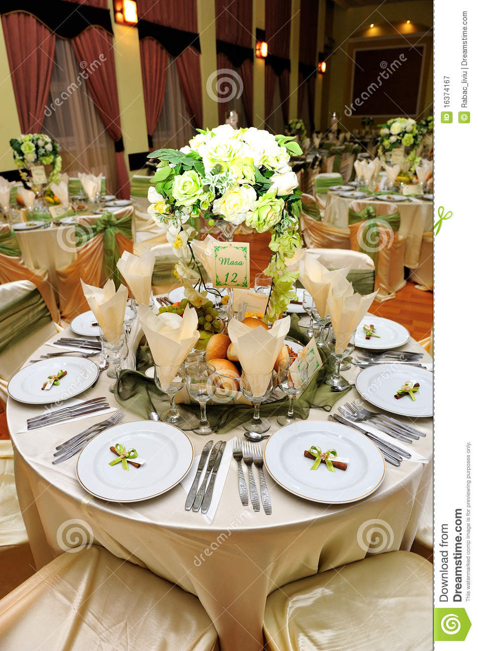 Table Setting Wedding Stock Image Image Of Meal Fine