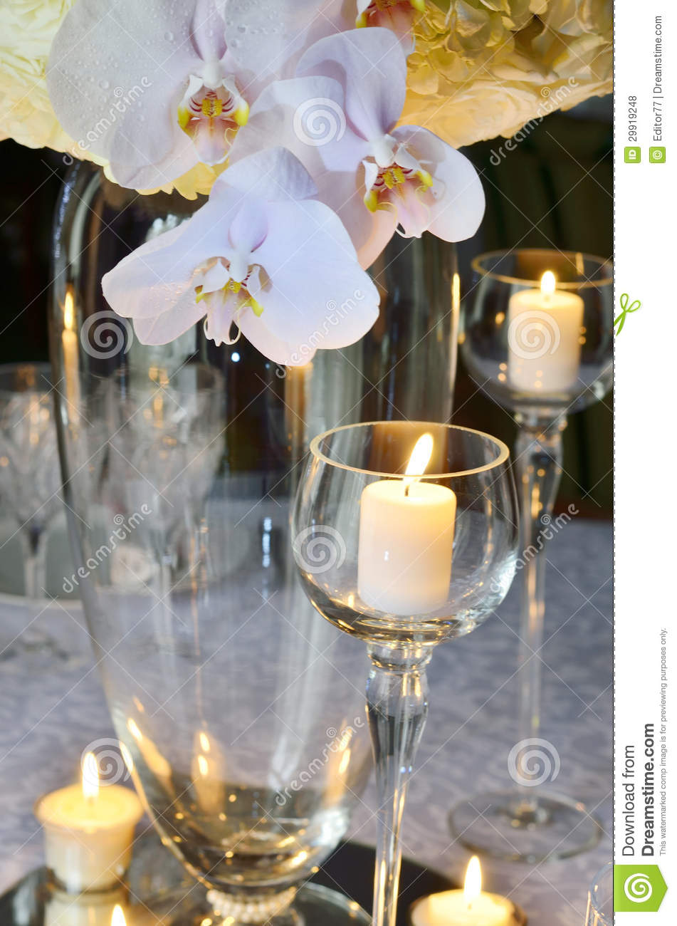 Wedding Table Decoration Stock Photo Image Of Drink