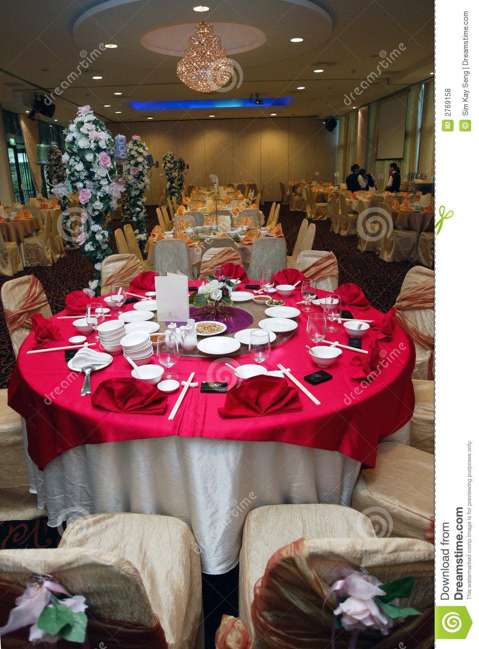 Table Setup Stock Photo Image Of Arrangement Tables