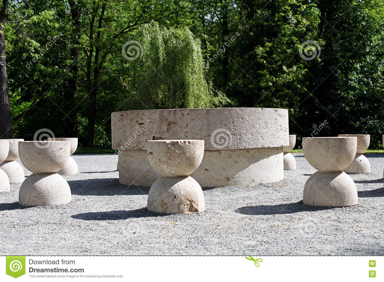 The Table Of Silence Of Constantin Brancusi, Targu Jiu, Romania ... for Brancusi Table Of Silence  21ane