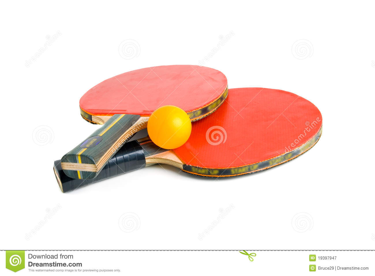 Table Tennis Bats with Ball.