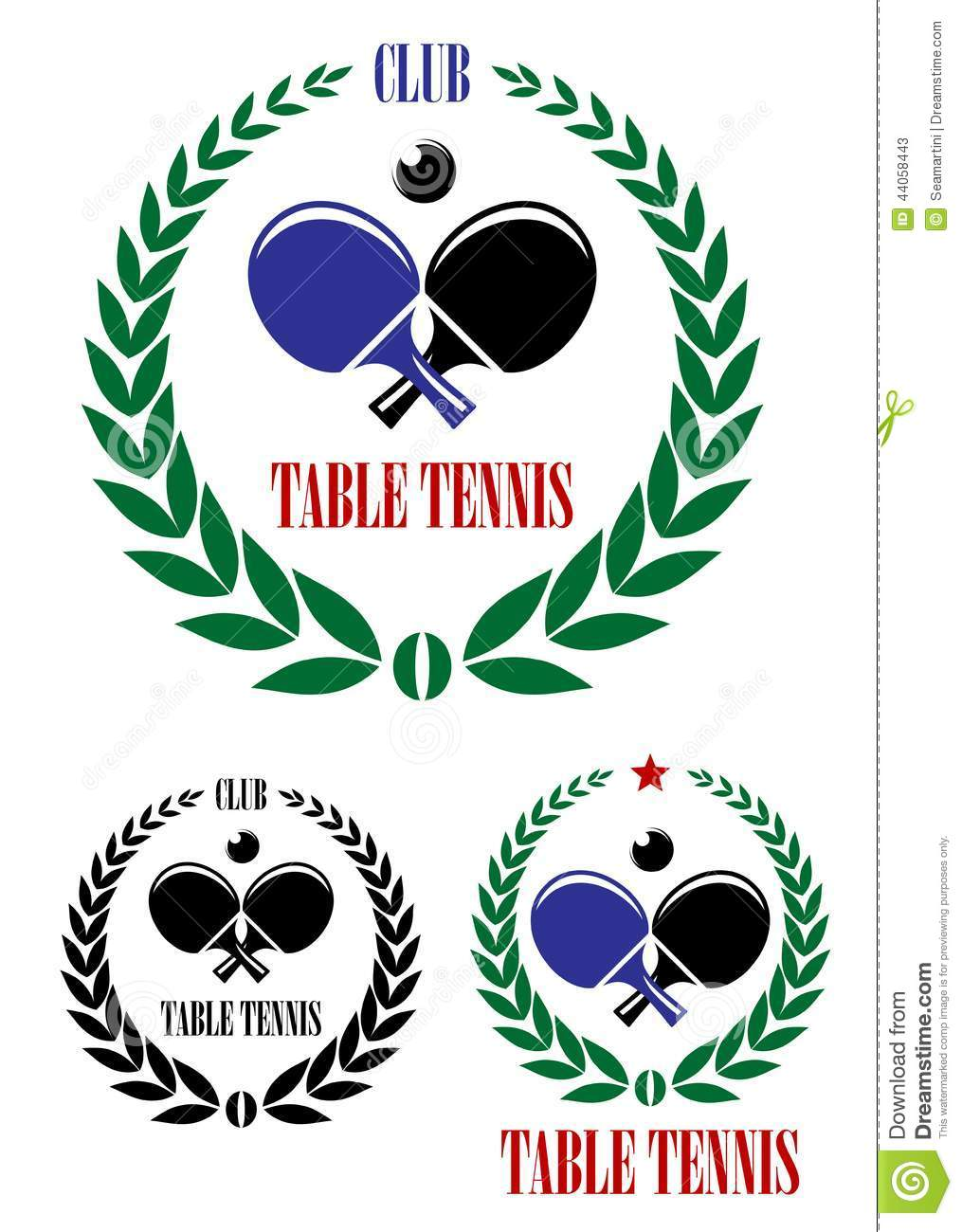 Ping pong table background - Table Tennis Emblems And Symbols Stock Vector Image