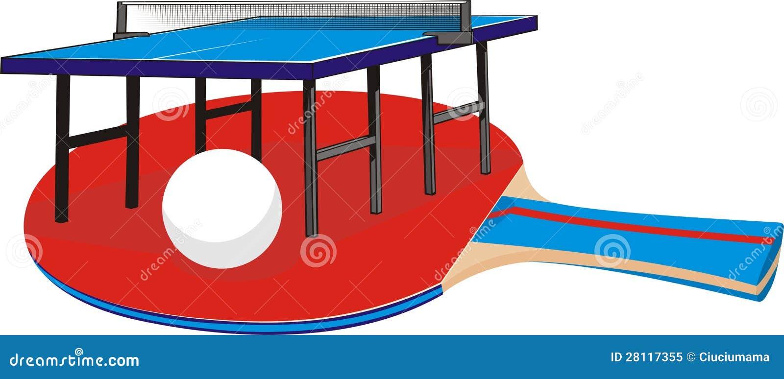 Table Tennis Equipment Stock Vector Illustration Of