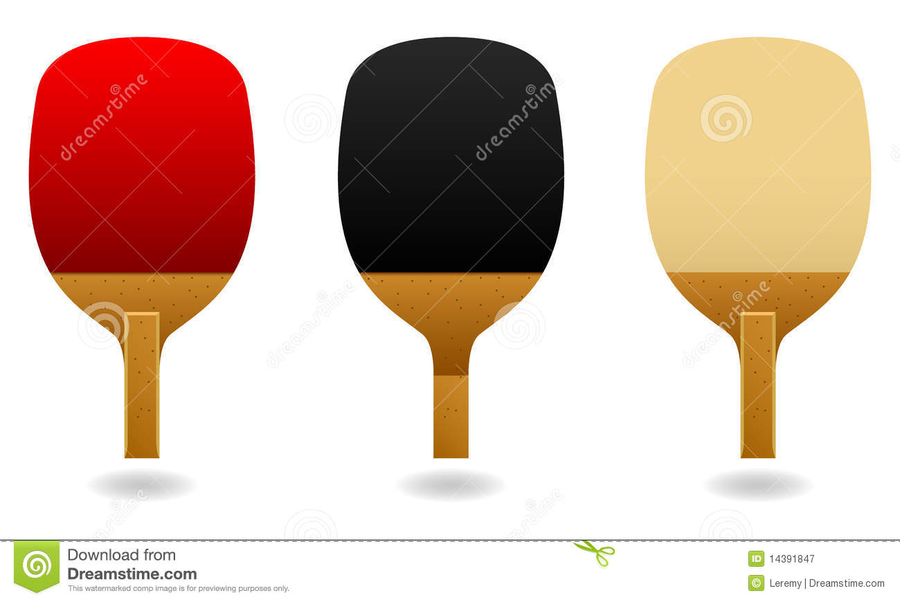 Table Tennis Pen Hold Paddle Bat Vector Stock Vector