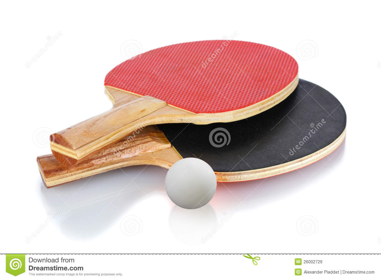 Table Tennis Rackets And Ball Royalty Free Stock Images - Image ...