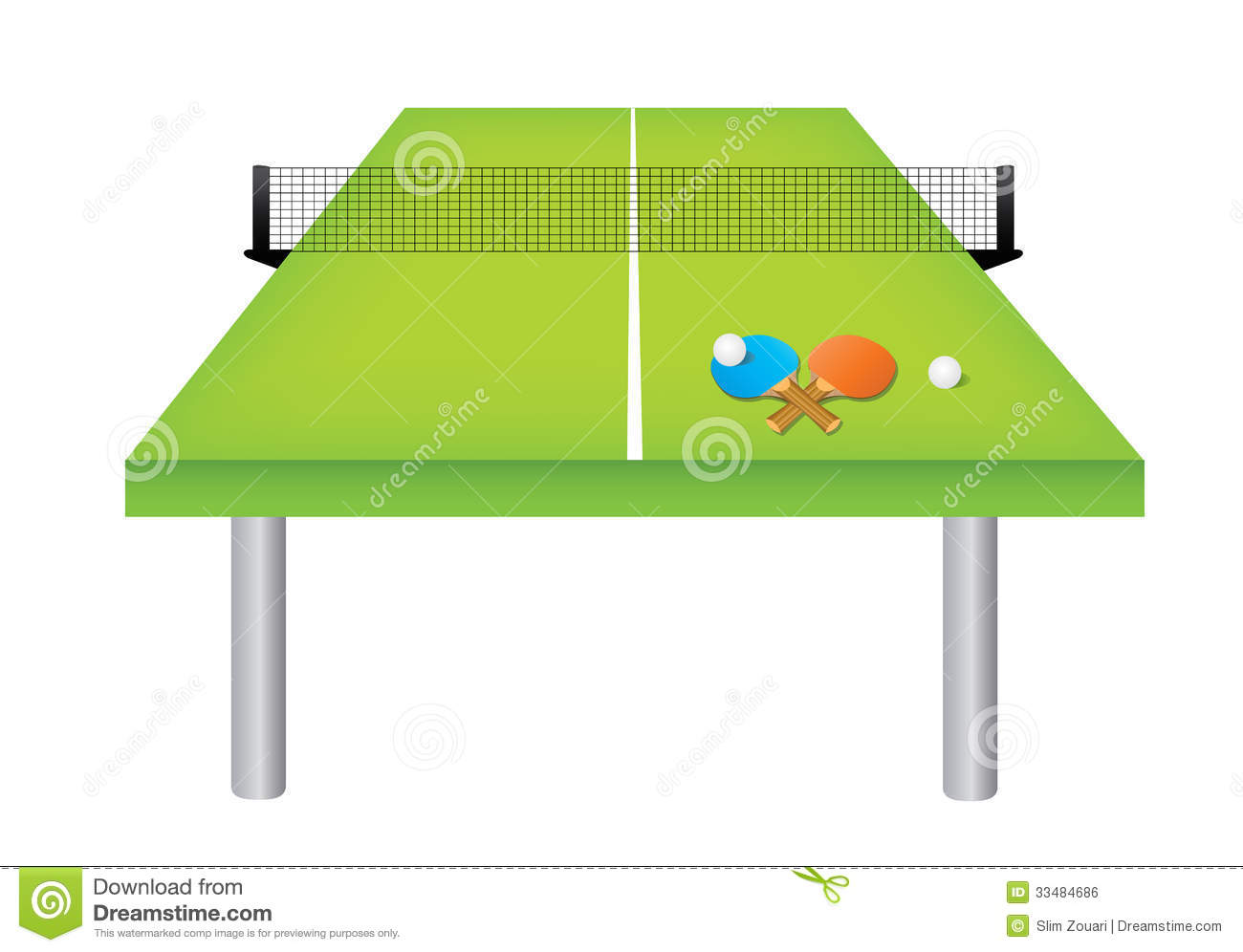 Table tennis table and equipment stock vector image 33484686 - Table de ping pong tectonic ...