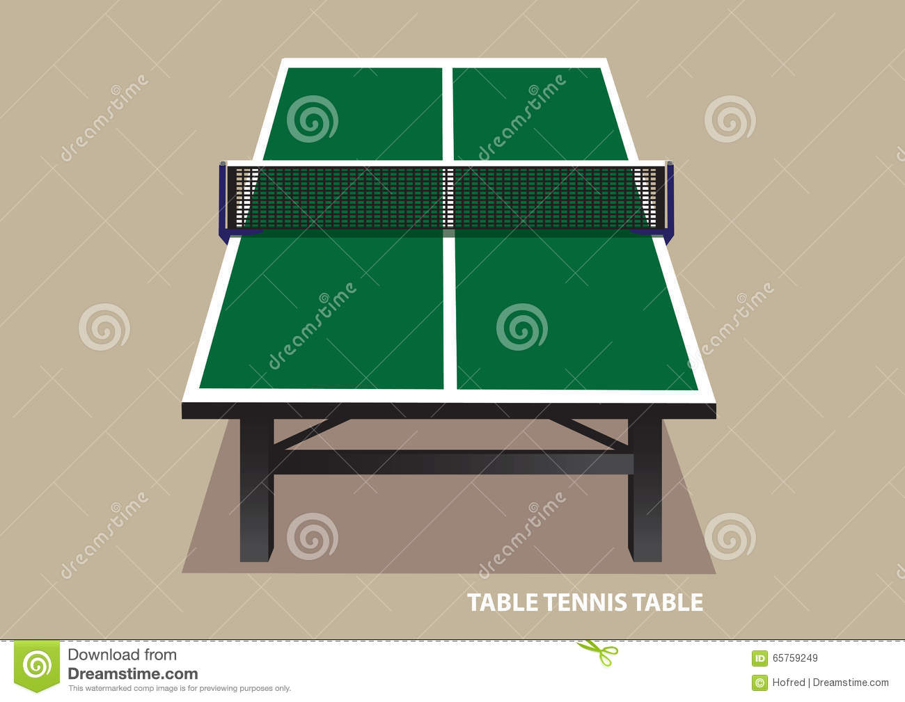 Ping pong table top - Table Tennis Table Top View Vector Illustration Stock Vector