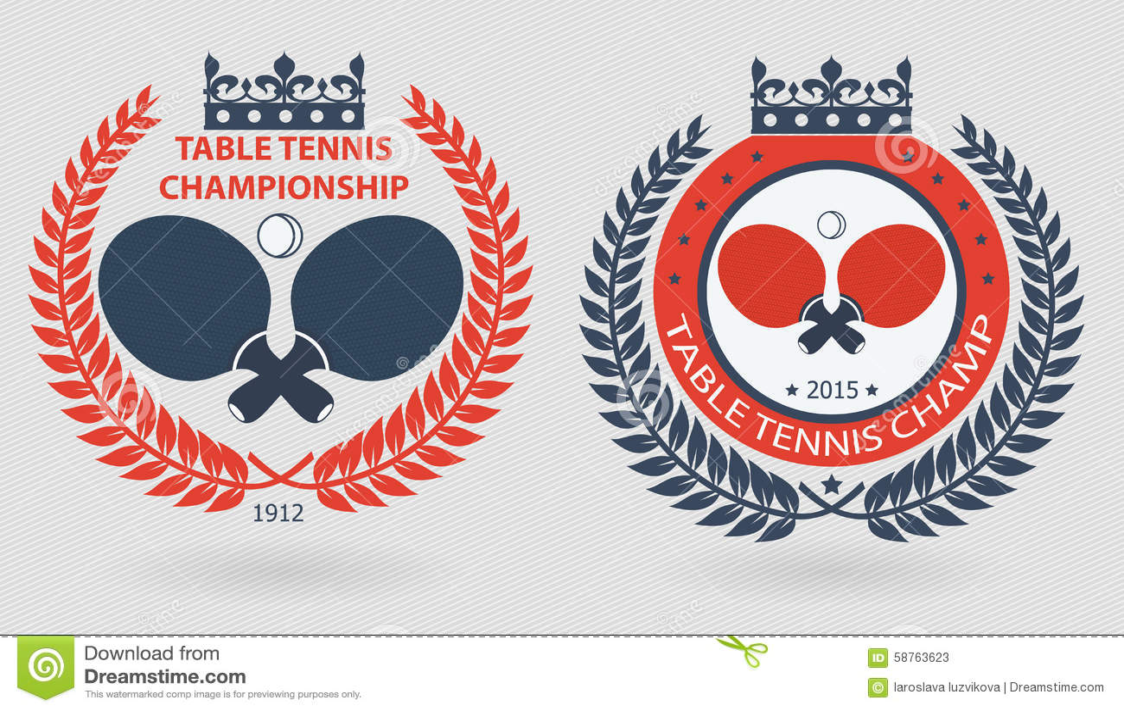 Table Tennis Wreath Emblems Stock Vector Illustration Of Logo