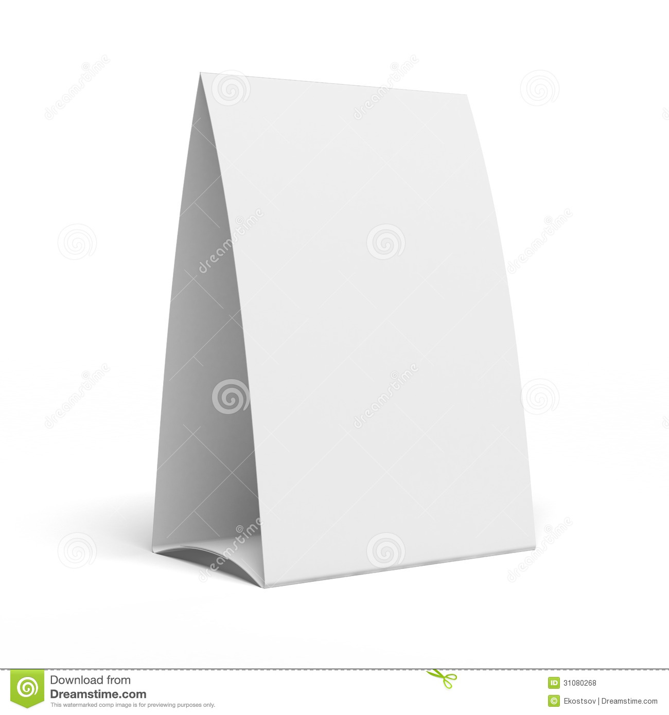 Table Tent Stock Illustration Image Of Talker Restaurant