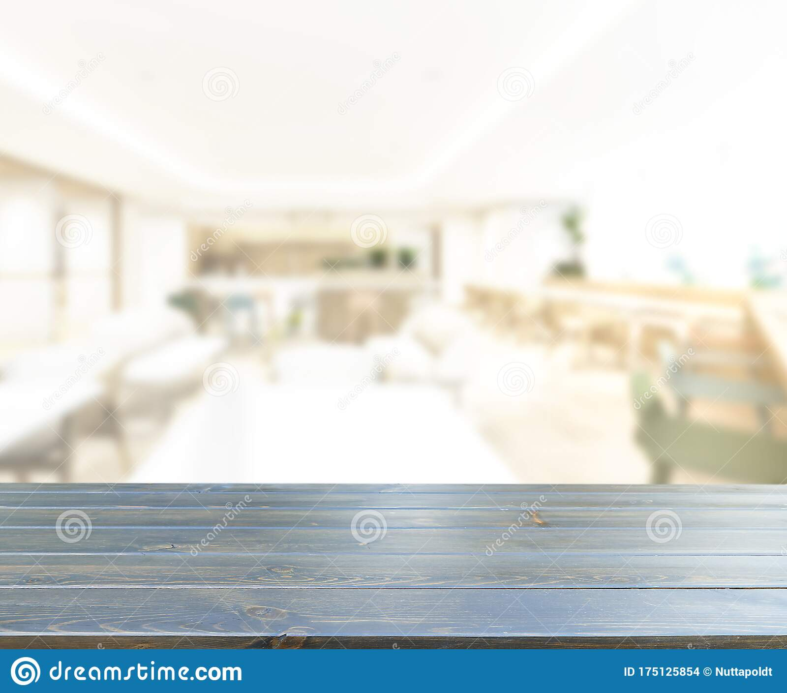 Table Top And Blur Restaurant Of Background Stock Photo Image Of Retro Color 175125854