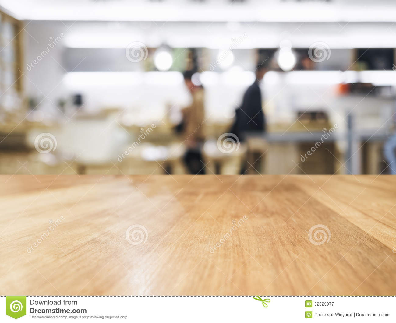 Kitchen Table Top Background table top counter with blurred kitchen interior background stock
