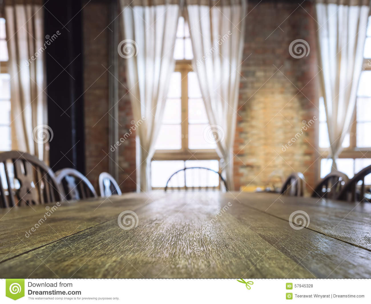 Dinner table background - Royalty Free Stock Photo