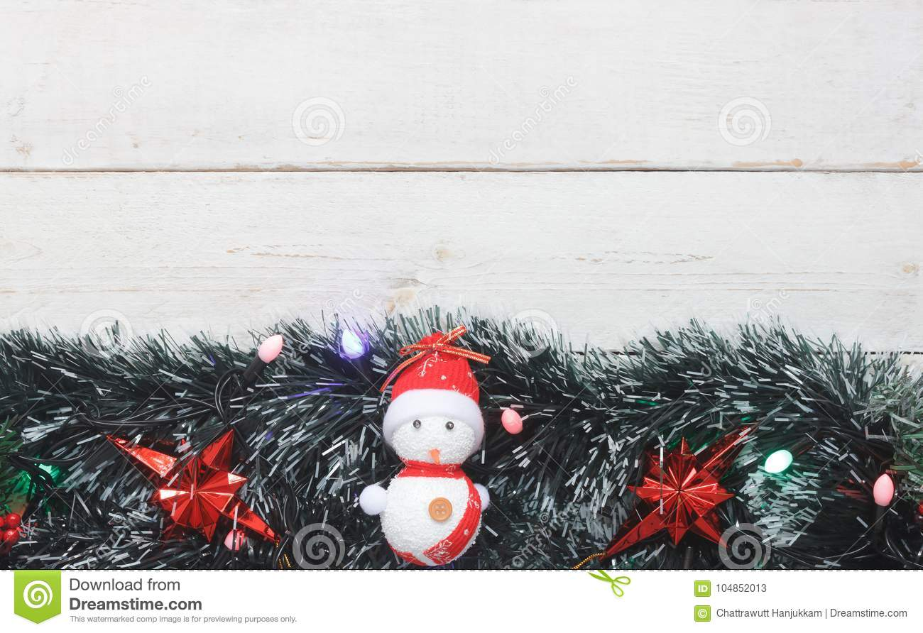 table top view image of decorations merry christmas happy new year background