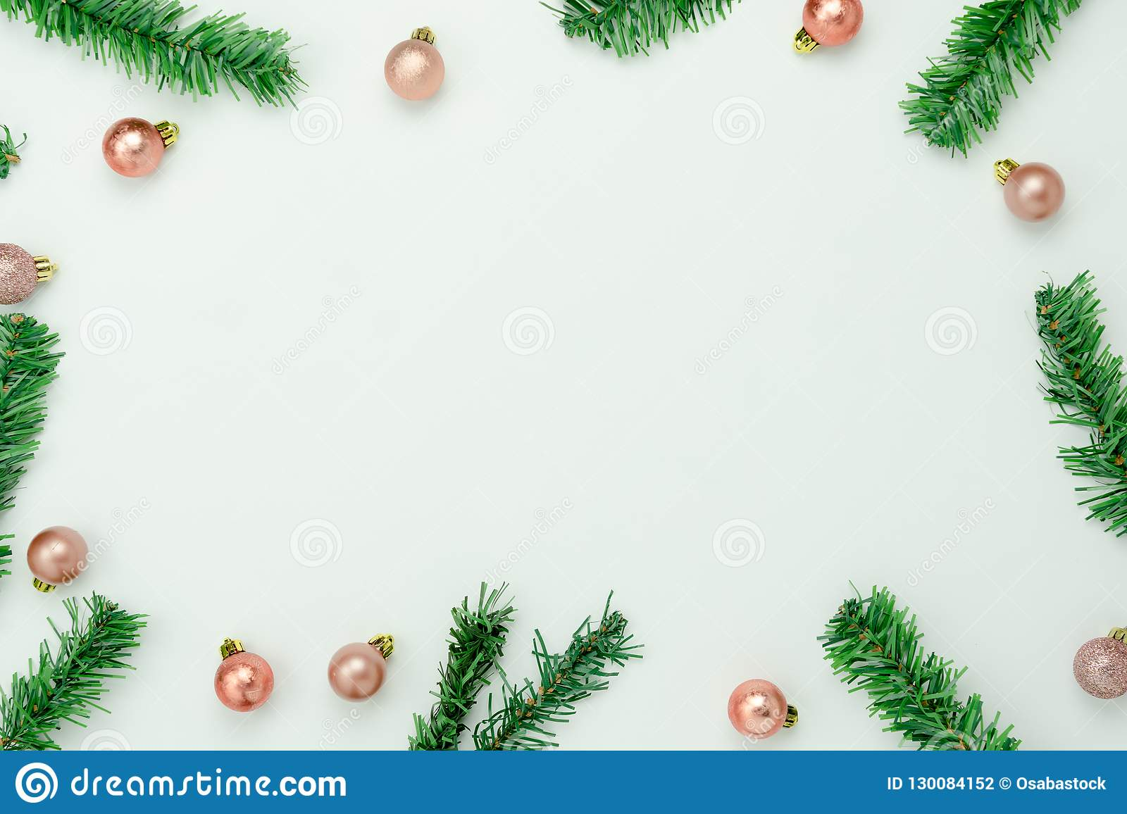 Christmas Top View.Table Top View Of Merry Christmas Decorations Happy New