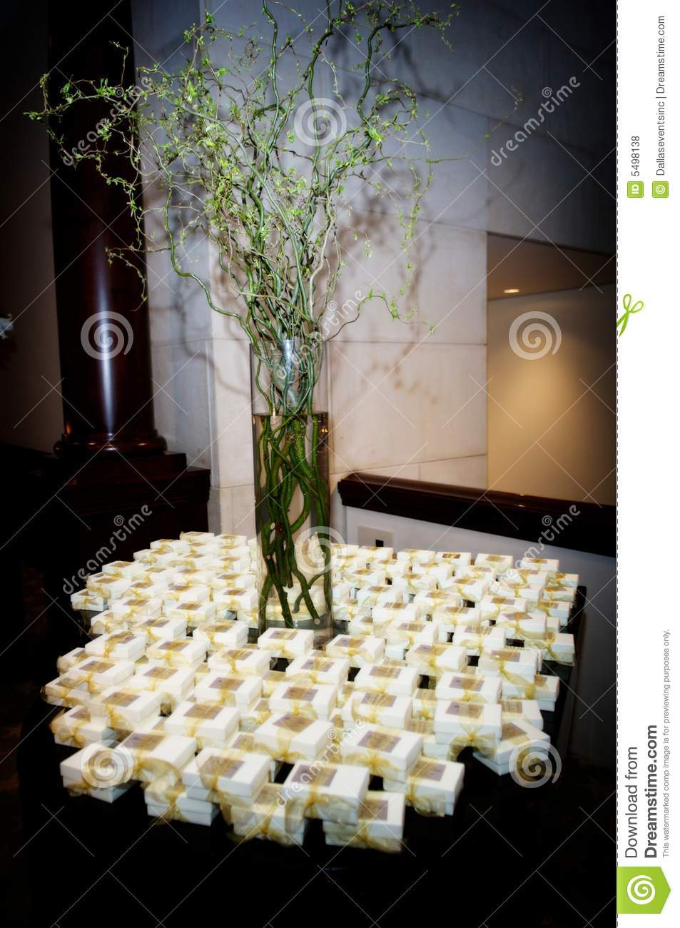 table topped with wedding favors royalty free stock photos