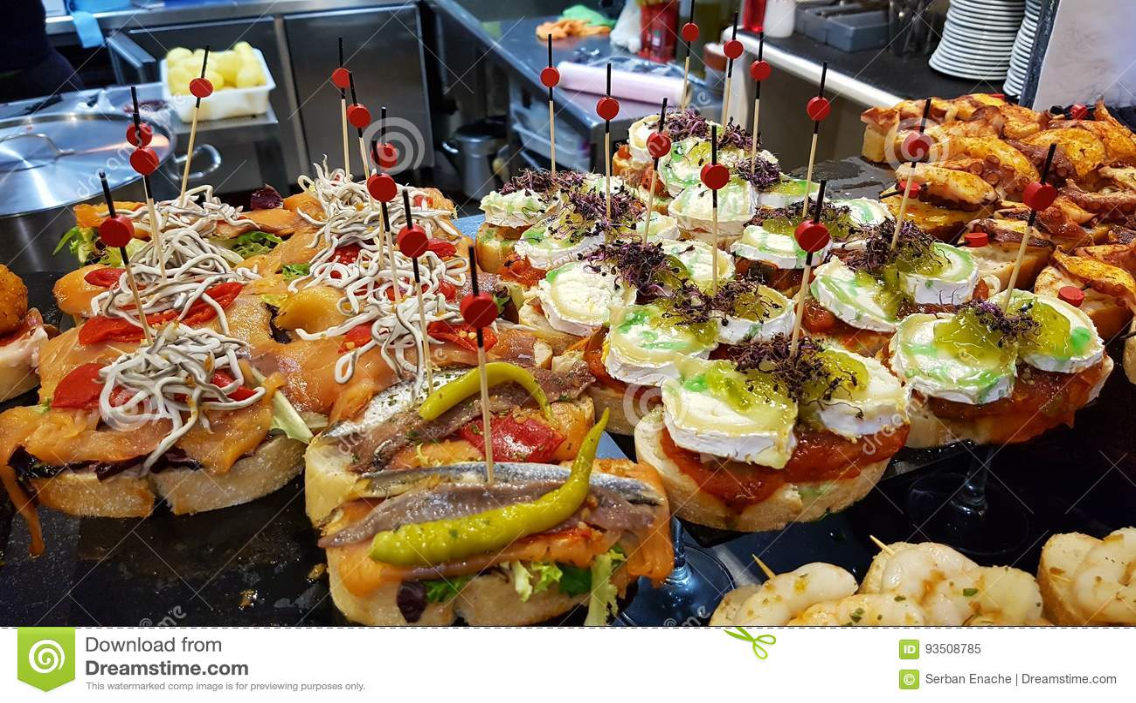 Pinchos In Restaurant In Bilbao Stock Image Image Of
