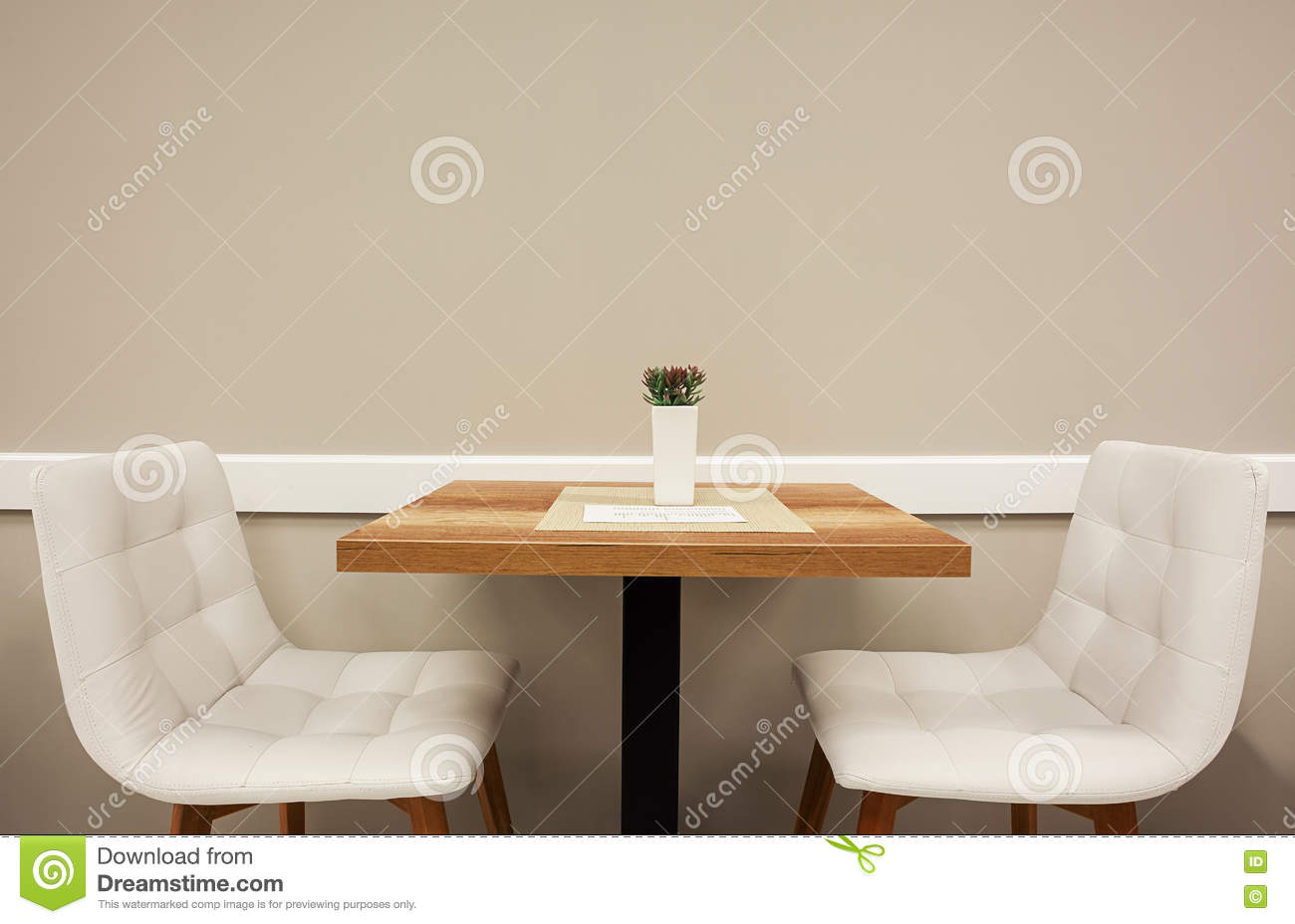 Table And Two Armchairs stock image. Image of design ...