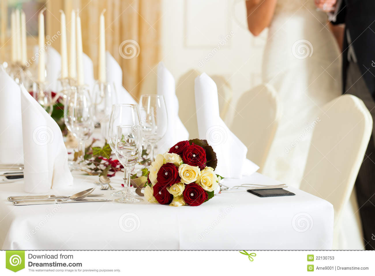 Table At A Wedding Feast Stock Photos Image 22130753