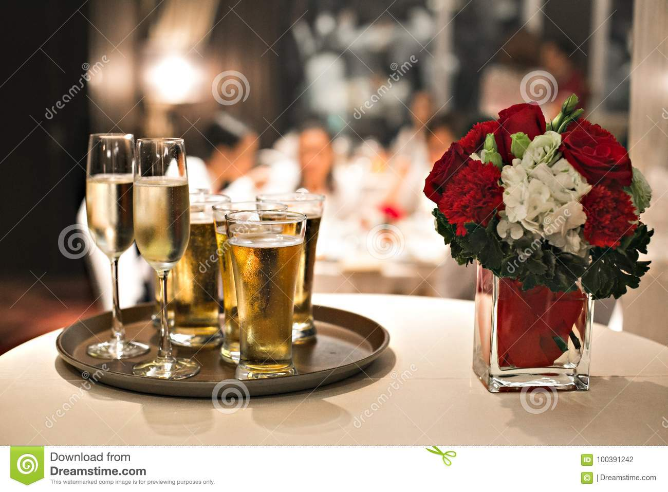 Table wedding glass dinner wine restaurant flower celebration Christmas champagne food decoration party white setting
