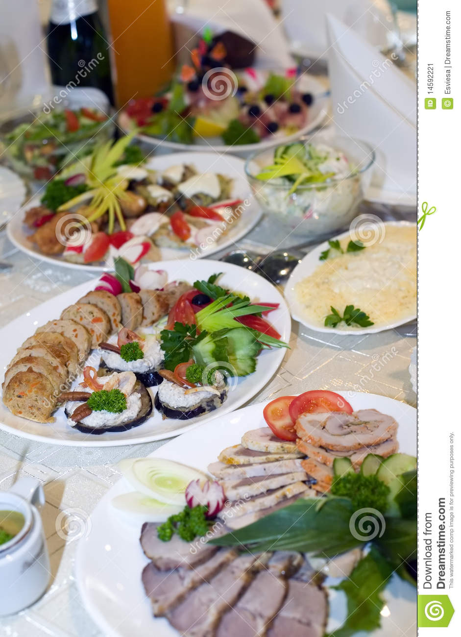 Table For Wedding Party Stock Image