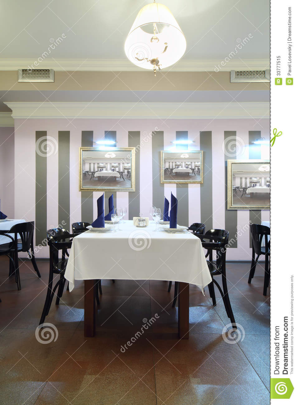 Table with white cloth in restaurant editorial image for Table moscow