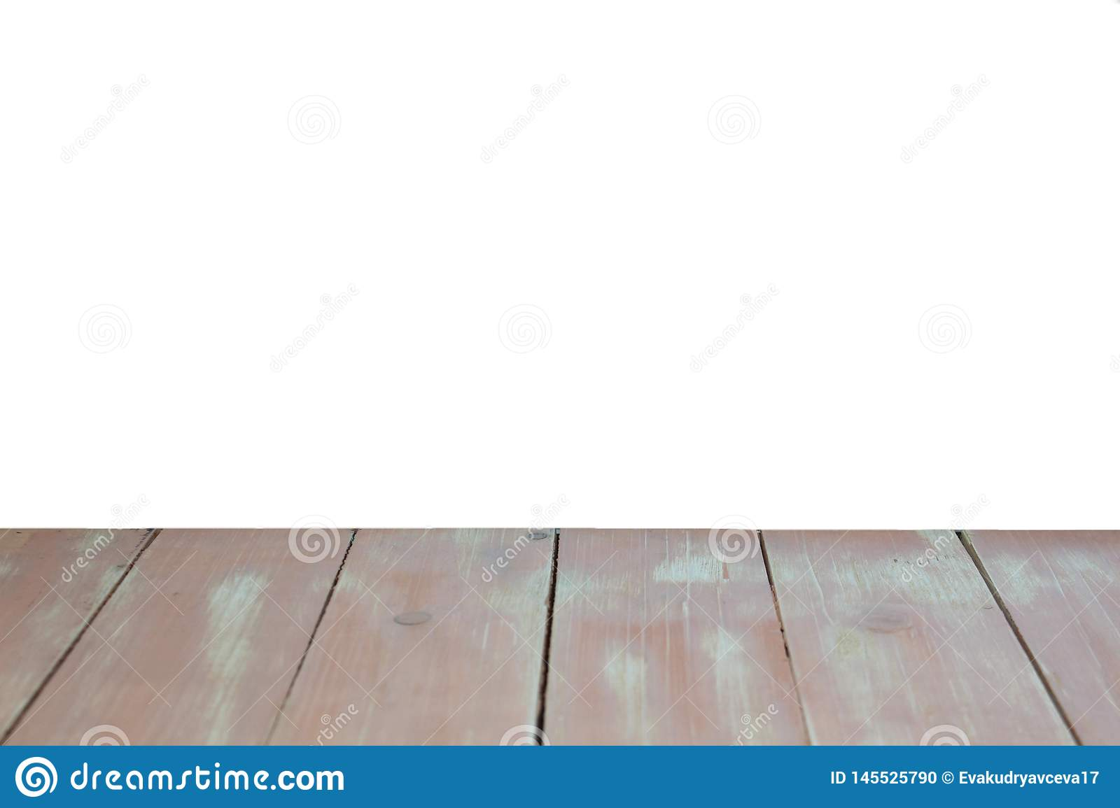 Texture wooden floor light brown color and isolated on half of the photo