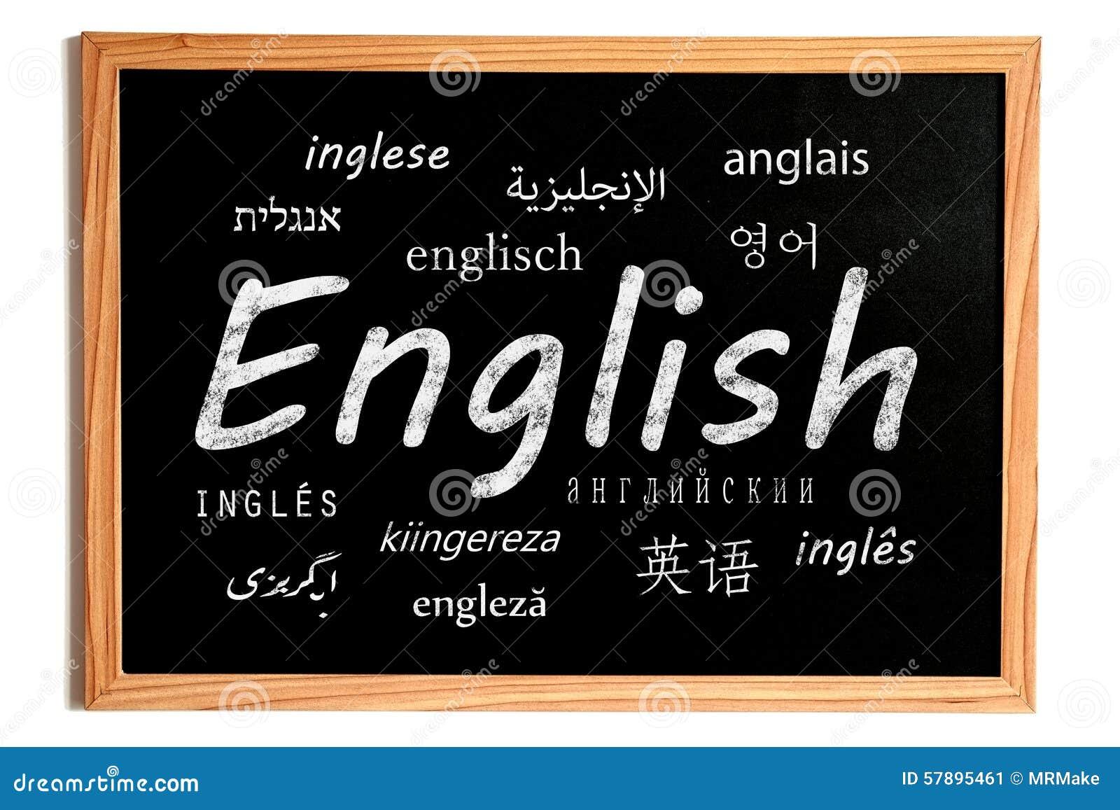 Tableau anglais de leçon