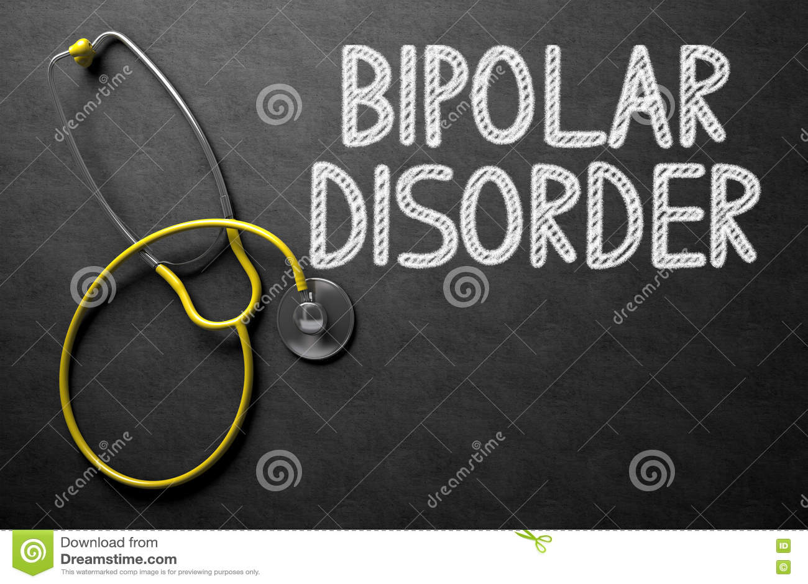 Tableau avec le trouble bipolaire illustration 3D