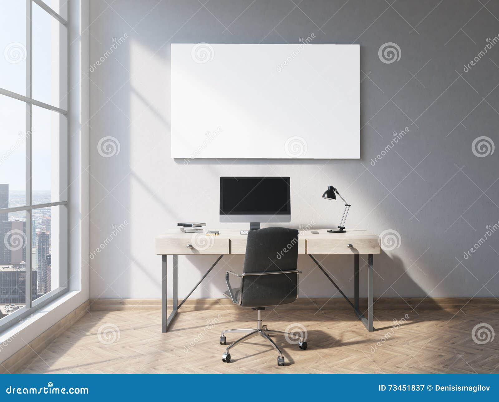 Tableau blanc dans le bureau illustration stock illustration du