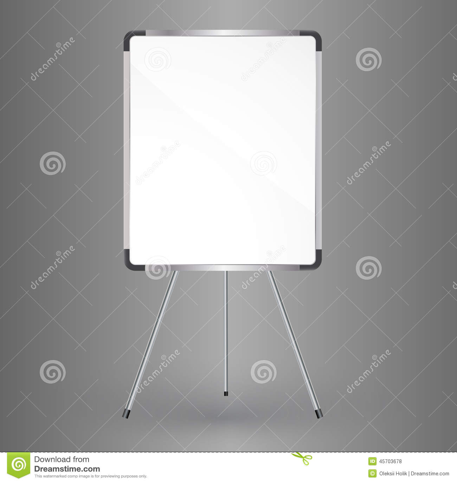 tableau blanc vide de bureau illustration stock illustration du whiteboard vide 45703678. Black Bedroom Furniture Sets. Home Design Ideas