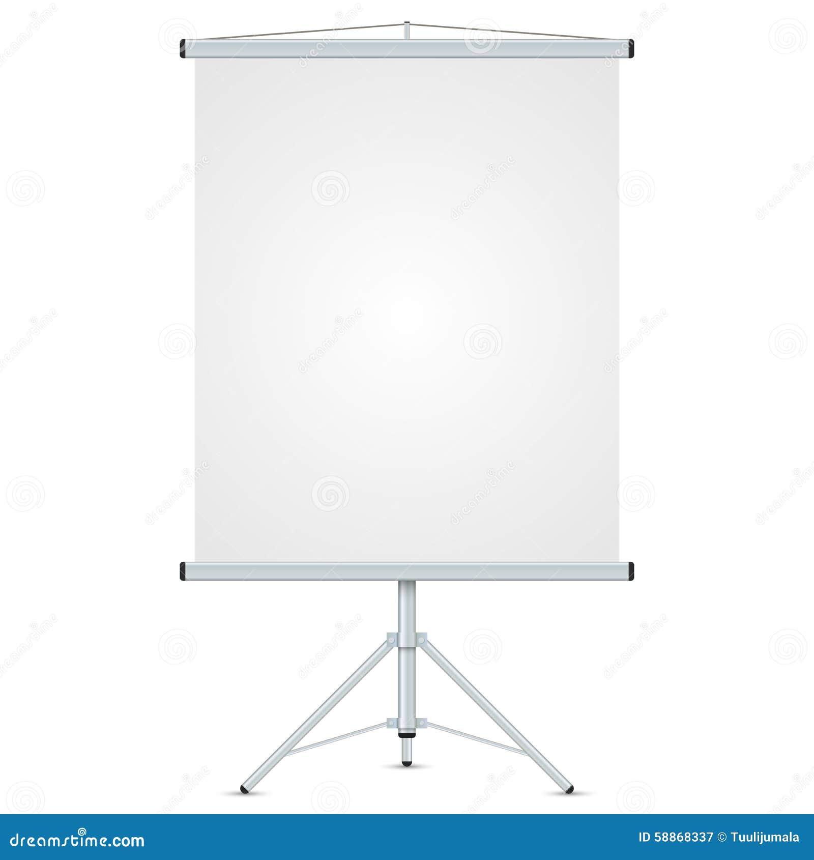 Tableau Blanc Vide De Bureau Illustration de Vecteur Image 58868337