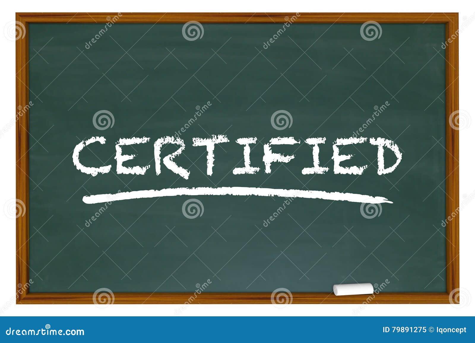 Tableau certifié de Word apprenant la certification