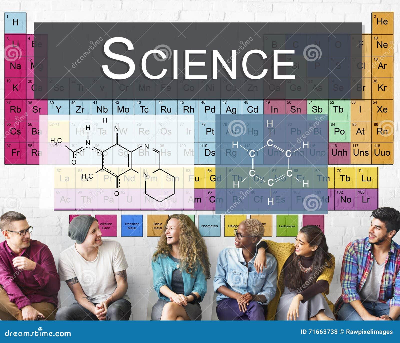 Tableau chimique de la Science de recherches d expérience de liaison des éléments C