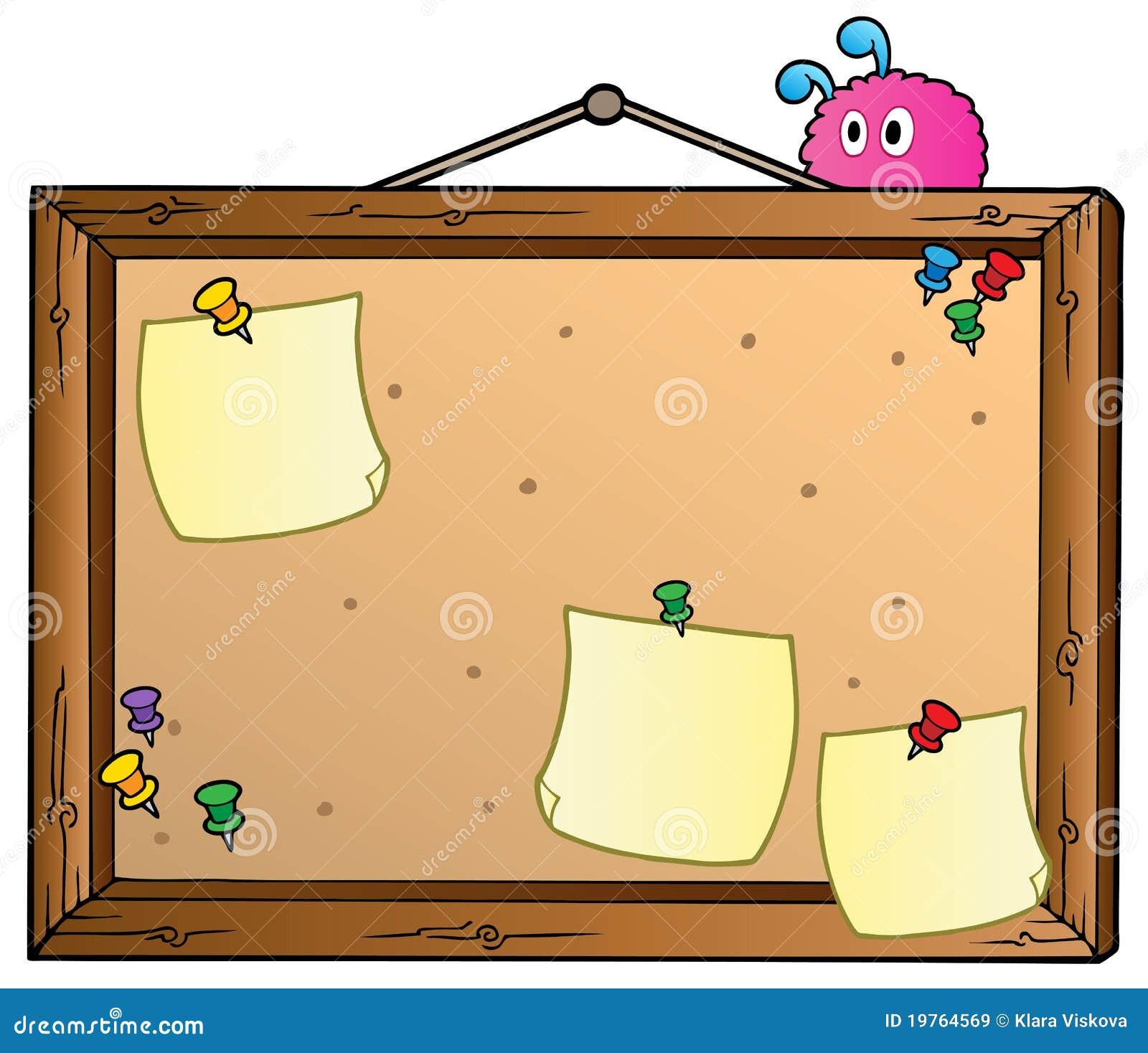 tableau d 39 affichage de dessin anim images libres de droits image 19764569. Black Bedroom Furniture Sets. Home Design Ideas