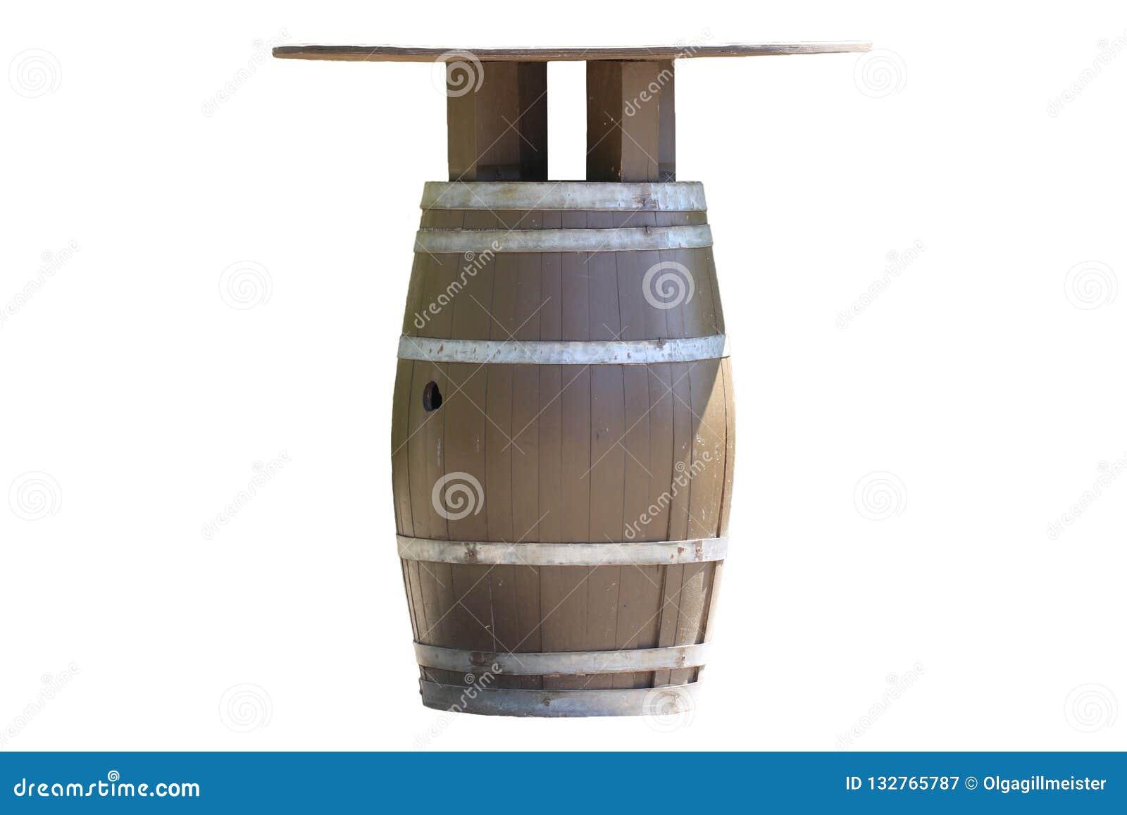 Nettoyer Un Vieux Tableau tableau d'isolement un baril en bois brun pour le vin avec