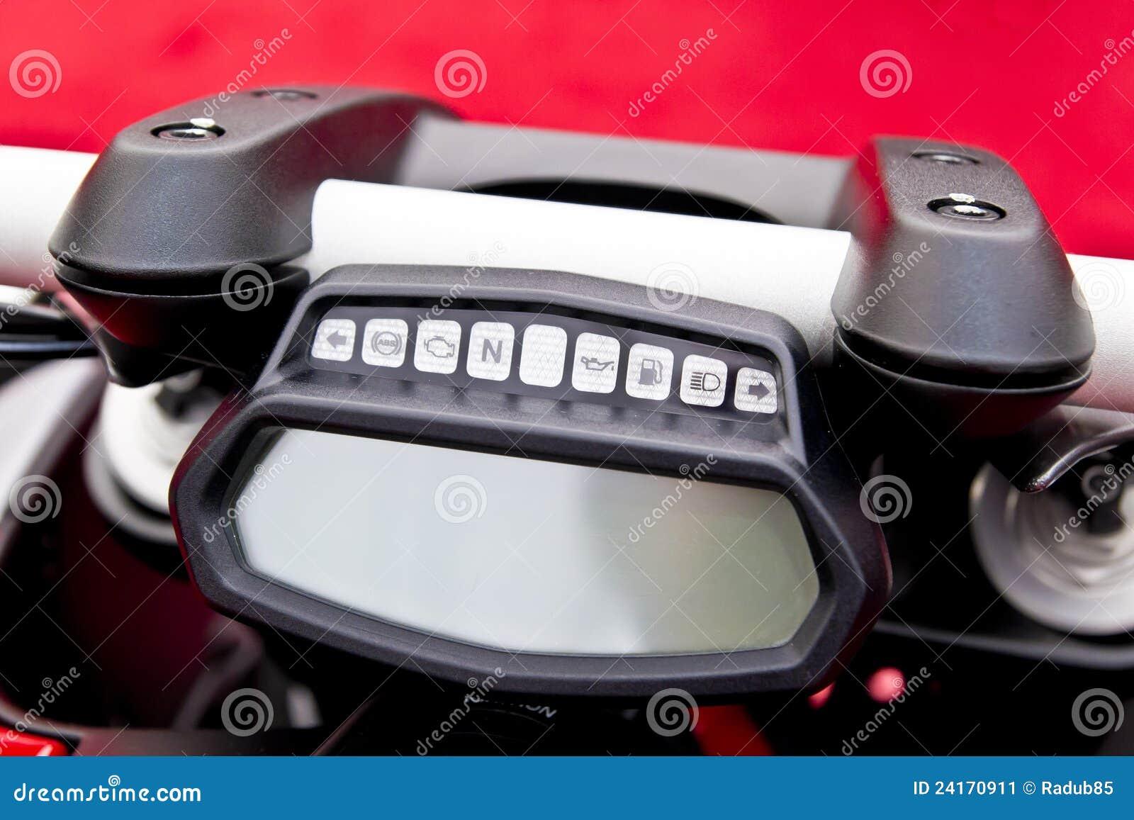 tableau de bord de moto image stock image 24170911. Black Bedroom Furniture Sets. Home Design Ideas