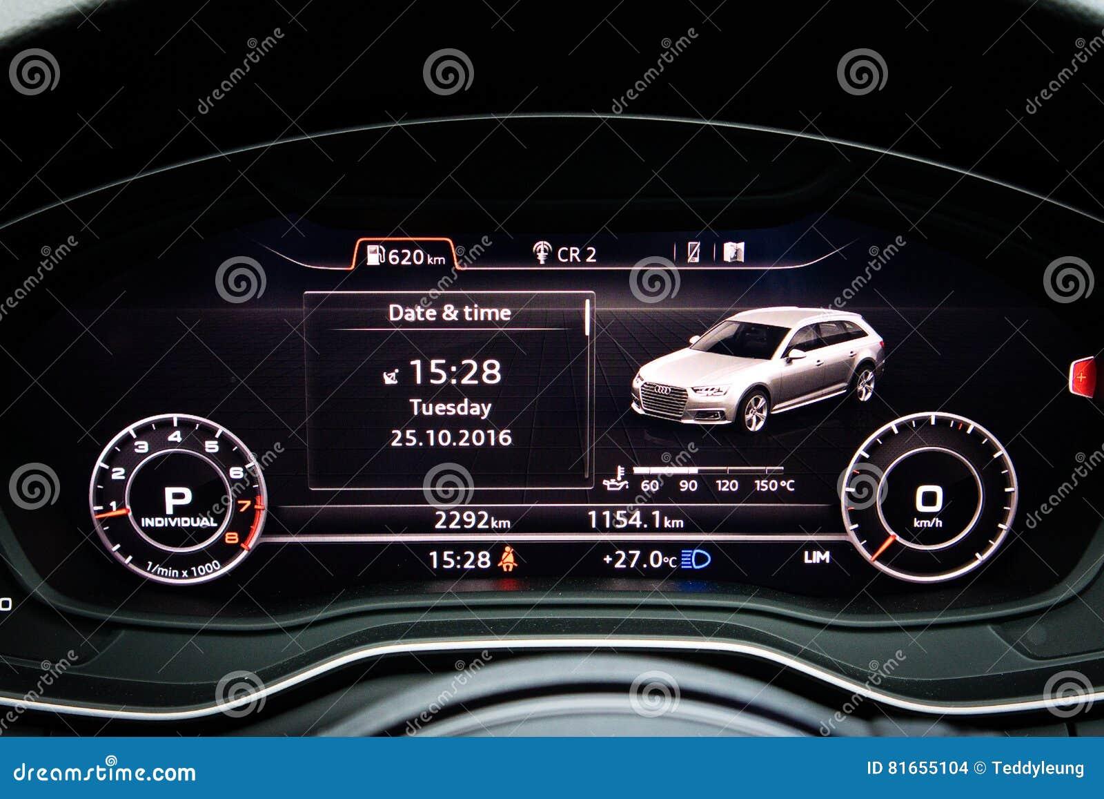 Tableau De Bord De Quattro D Audi A4 Avant 45 Tfsi Image Stock Editorial Image Du Berline Conception 81655104