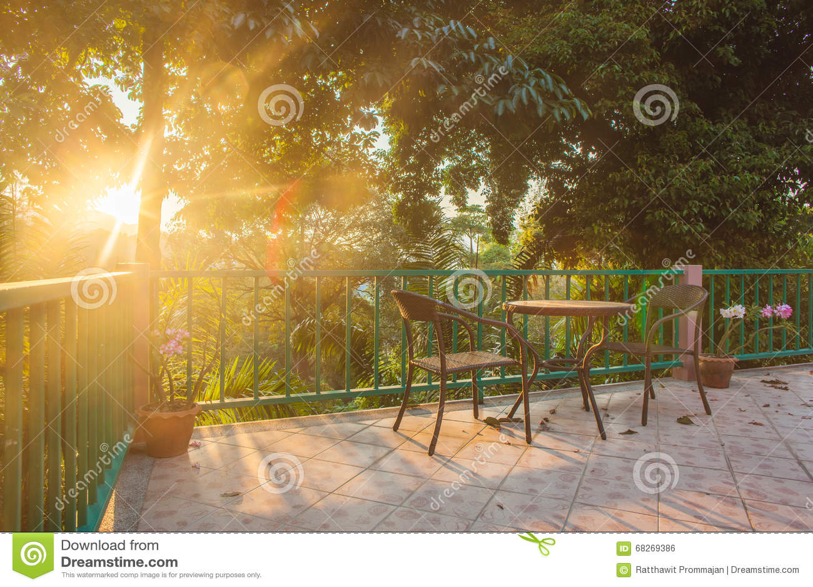 Sur Jardin forme Le Chaise Et Plate Tableau Bois La En Dans shQCrdtx