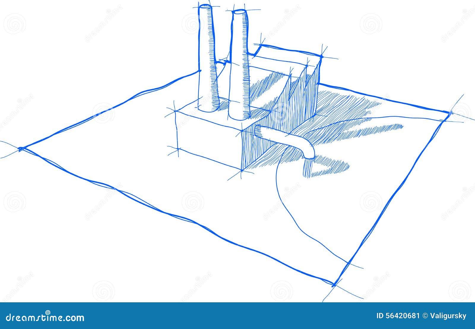tableau industriel de pollution illustration de vecteur illustration du tableau illustration. Black Bedroom Furniture Sets. Home Design Ideas