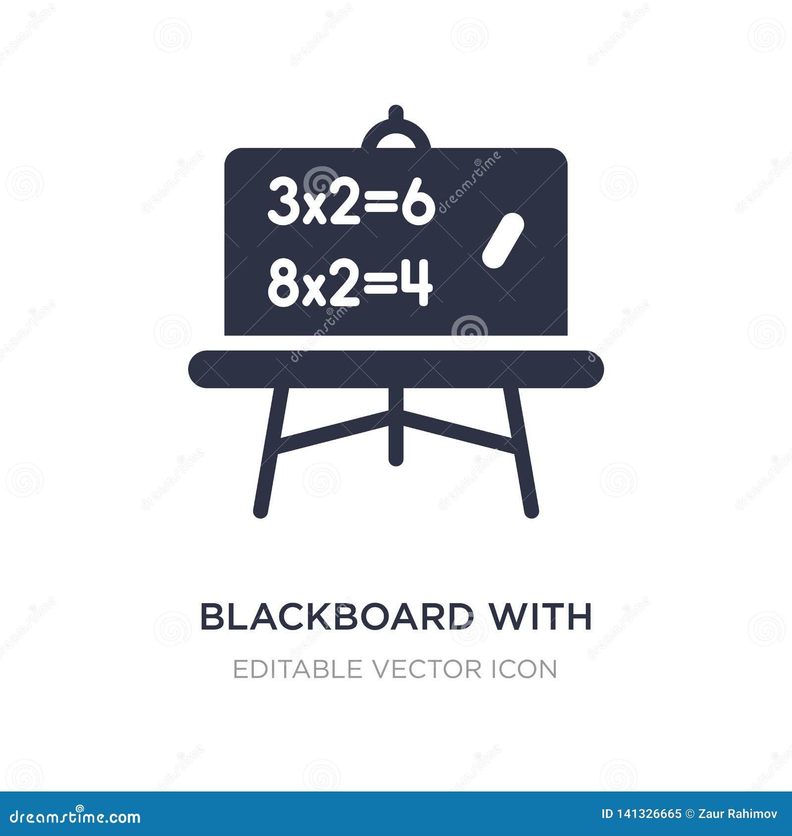 Tableau noir avec l icône de base de calculs sur le fond blanc Illustration simple d élément de l autre concept