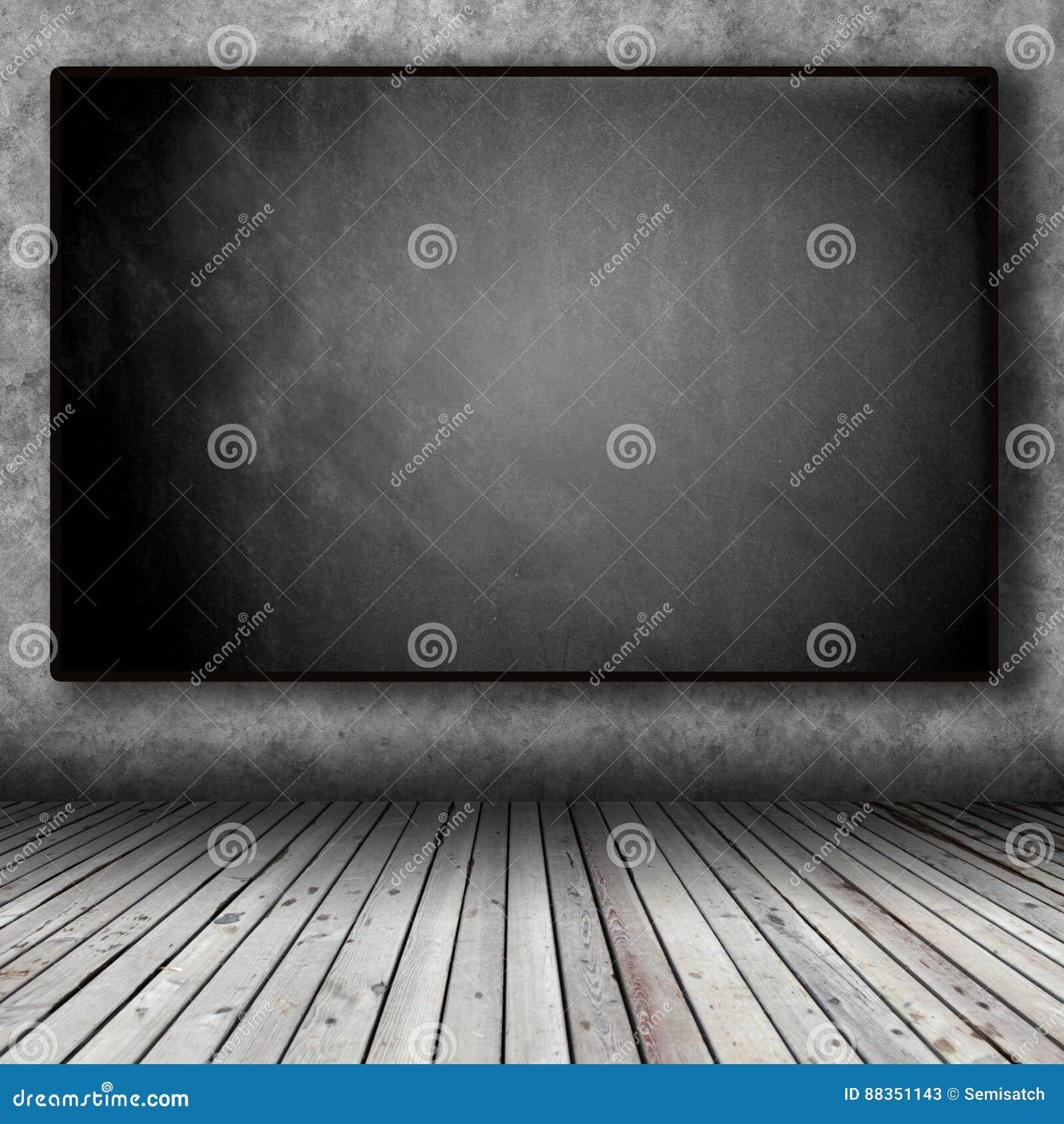 Tableau Noir Dans La Chambre Noire Image stock - Image du concept ...