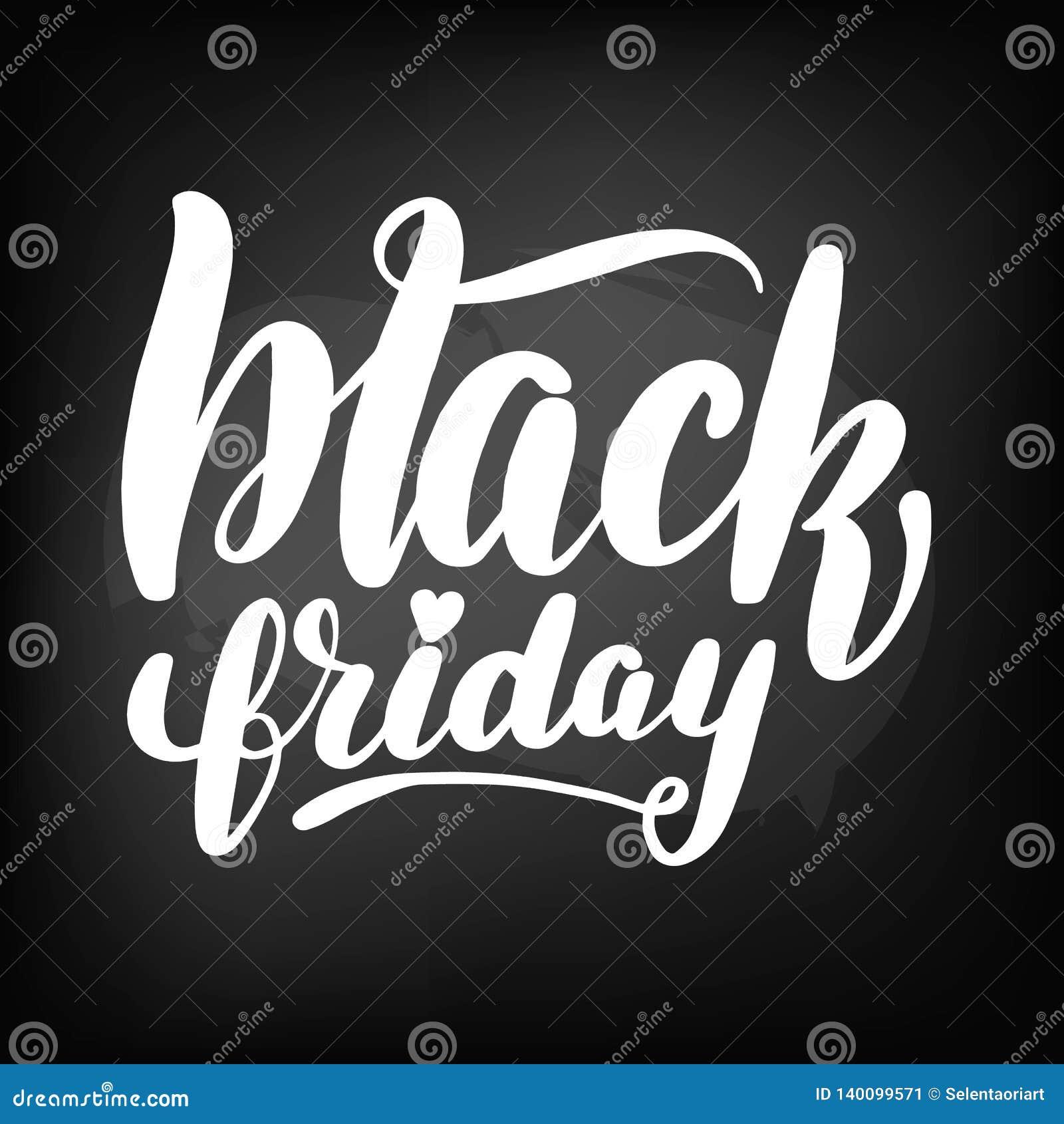 Tableau noir de tableau marquant avec des lettres vendredi noir