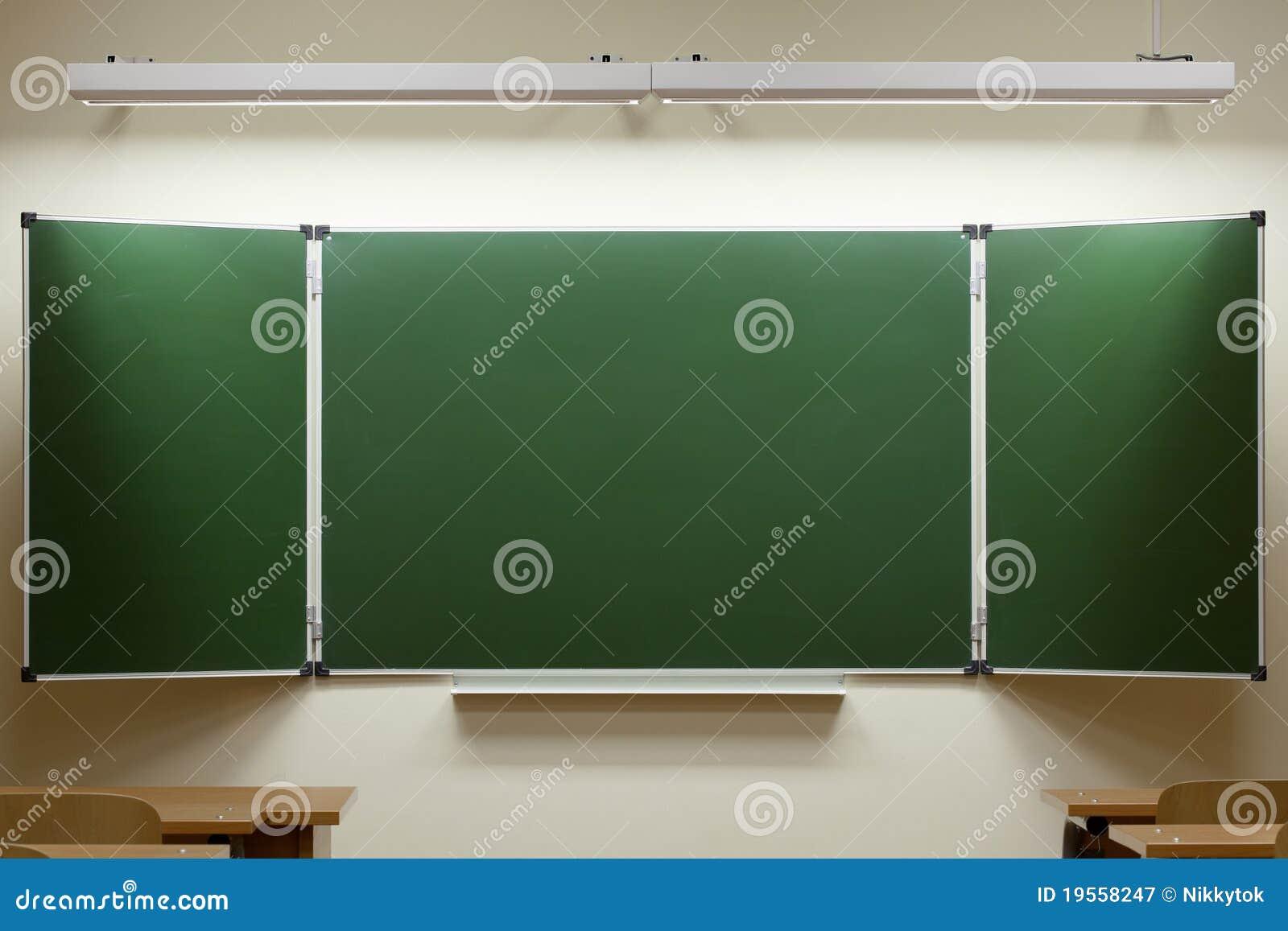 Tableau Noir Vide Dans La Salle De Classe Image stock Image