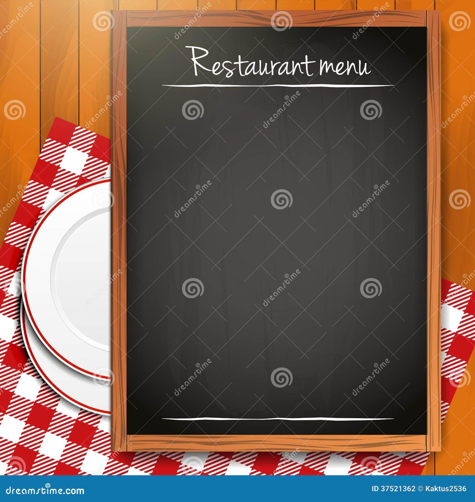 Tableau noir vide fond de menu de restaurant for Tableau noir restaurant