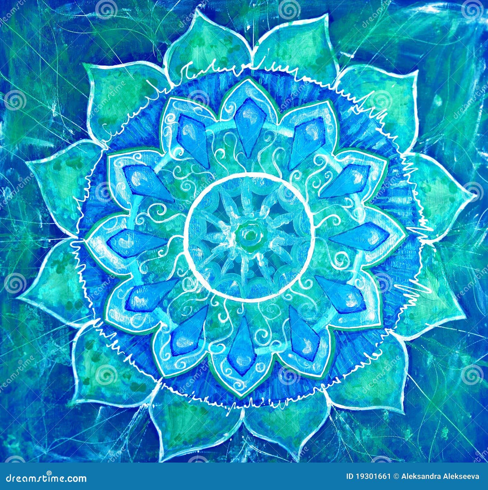 tableau peint bleu abstrait avec la configuration de cercle illustration stock illustration. Black Bedroom Furniture Sets. Home Design Ideas