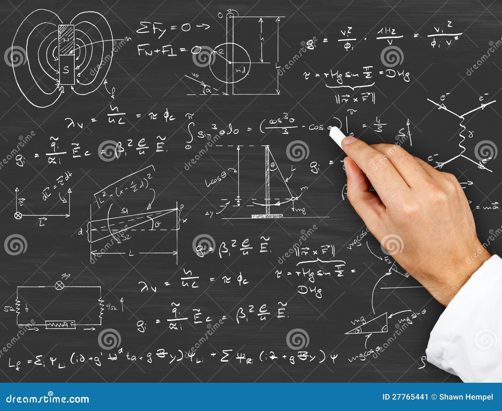 Tableaux et formules de physique
